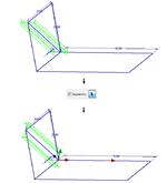 Выравнивание элемента рамы посредством геометрии