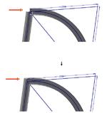 Поддержка форм линий разрыва на изогнутых балках генератора рам