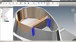 InventorCAM. Фрезерование 2.5D. Обработка с заданным углом и доработка