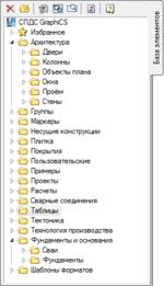 Закладка База элементов