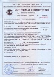 Сертификат соответствия ГОСТ Р № РОСС RU.СП15.H00692