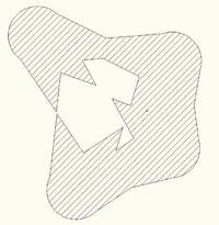 Рис. 8. Сечение по зоне молниезащиты