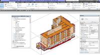 3D-модель. Объект: многоквартирный жилой дом в г. Барнаул