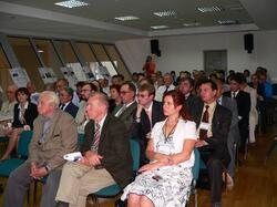 Посетители семинара заслушивают доклад технического директора ГК CSoft Орельяны Урсуа Игоря Оскаровича