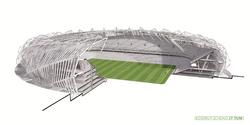 Футбольный стадион в Кракове (Польша), спроектированный к Чемпионату Европы 2012 года