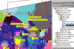 Карта границ покрытия