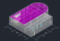 Модель здания (фантомные поверхности)