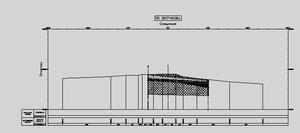 Пример нанесения геологических данных на поперечное сечение
