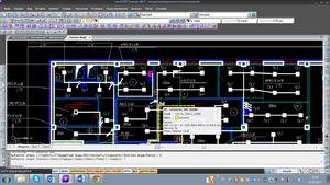С помощью специальных инструментов программы пользователь расставляет на плане оборудование, подключает электроприемники к распределительным устройствам, прокладывает трассы и кабели в них
