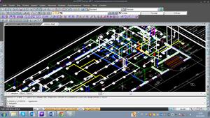 Получение 3D-модели с установленными кабеленесущими системами (КНС)