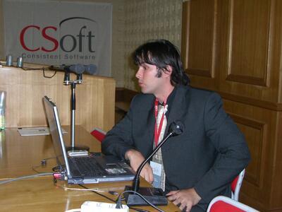 Докладчик - Северинов Андрей Хулиович, ведущий специалист отдела систем обработки сканированных изображений компании CSoft