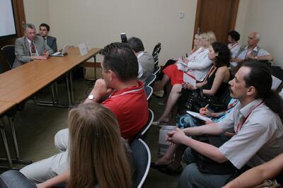 Журналисты слушают выступления
