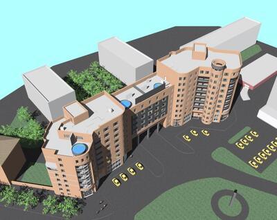 Псковгражданпроект: проект жилого комплекса, выполненный в Autodesk AutoCAD Revit series-building