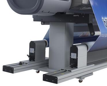 Система автоматической подачи/подмотки носителей для рулонов весом до 100 кг с системой натяжения