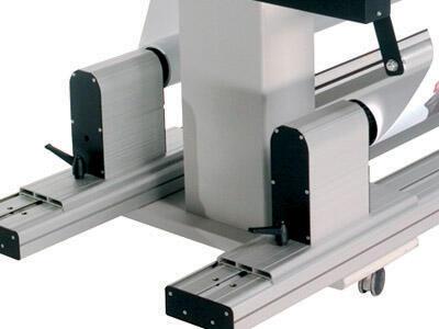 Системы автоматической подачи и подмотки носителей для рулонов весом до 100 кг
