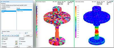 Visual-Viewer. Анализ зеренной структуры, рассчитанной в модуле CAFE