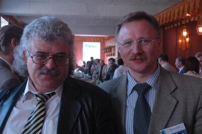 Председатель совета директоров CSoft Санкт-Петербург (Бюро esg) И.Б. Фертман и директор КБ «Восток» С.М. Макеев