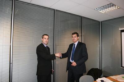 Владимир Гусев и директор по маркетингу компании AceCad Кэмерон Хейвуд (cameron haywood)