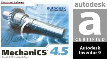 MechaniCS 4.5 сертифицирован для Autodesk Inventor 9