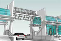 Здание для ядерно-магнитного томографа с подземным переходом