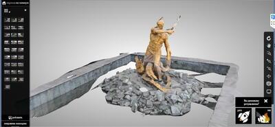 Демонстрация Autodesk ReCap: создание 3D-модели скульптуры по данным фотоснимков