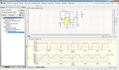 Пример анализа сигналов на схеме