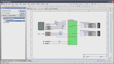 Пример принципиальной схемы проекта ПЛИС
