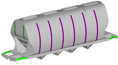 Расчетная модель вагона-хоппера