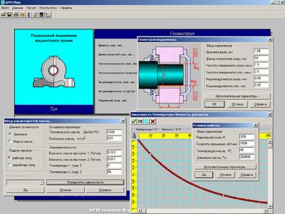 Расчет радиального подшипника жидкостного трения в модуле APM Plain