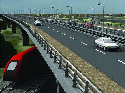 Пример визуализации проекта в AutoCAD Civil 3D