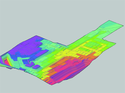 Стилизованное представление поверхности в AutoCAD Civil 3D