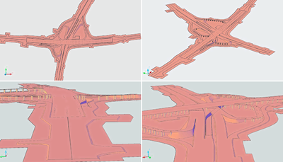 Пример проекта транспортной развязки в AutoCAD Civil 3D