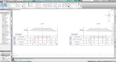 Пример поперечных профилей в AutoCAD Civil 3D