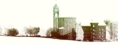 Данные лазерного сканирования, импортированные в Civil 3D