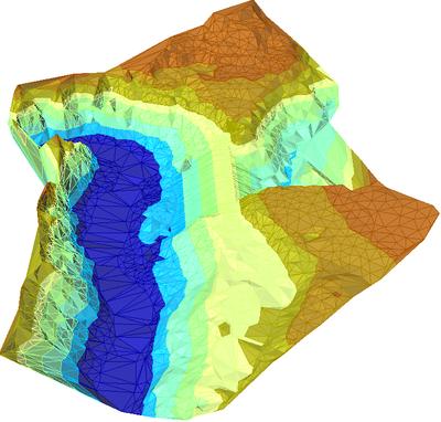 Измененная поверхность в Autodesk Civil 3D 2007