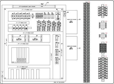 Точные чертежи компоновки панелей