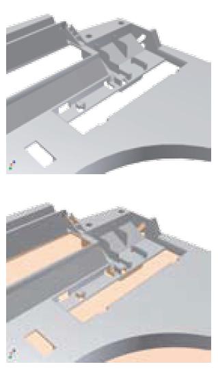 Создание поверхности разъема и участков поверхности