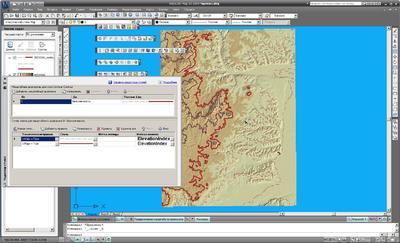 Работа со стилями горизонталей в AutoCAD Map 3D 2009