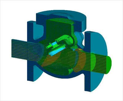 Открытие запорного клапана с кратковременным повышением скорости потока и распределением давления.