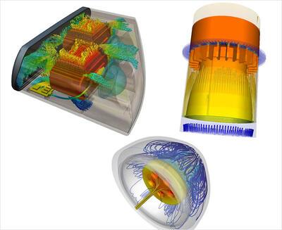 Autodesk Simulation CFD Advanced позволяет определять способы снижения тепловой нагрузки на места подключения светодиодов с помощью использования разных конфигураций печатных плат, теплоотводов и вентиляторов.