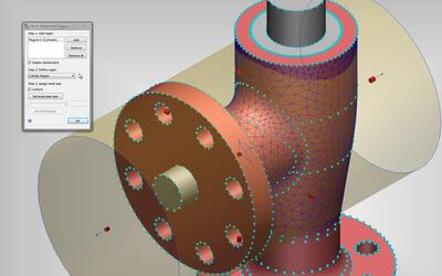 Продукт позволяет автоматически уточнять сетку в важных областях, таких как зазоры, с предварительным просмотром сетки поверхности. Предварительный просмотр дает пользователям представление о технологичности сетки.