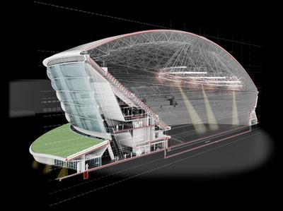 Национальный стадион в Шотландии, спроектированный архитектурным бюро Foster and Partners