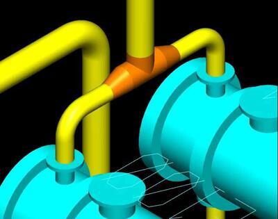 Автоматическое размещение элементов трубопроводов