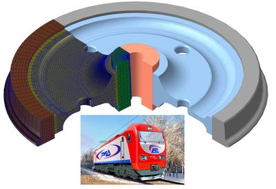 Конечно-элементная модель колеса электровоза ЭП2К (ОАО «Коломенский Завод»)