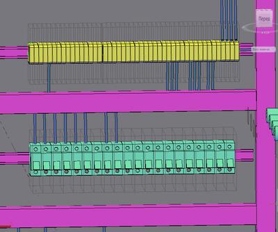Разводка проводов внутри щита