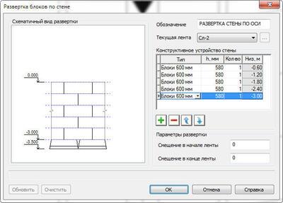 Рис. 13. Формирование схемы раскладки блоков