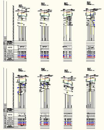 Рис.16. Примеры нескольких стандартов оформления переходов в nanoCAD ЛЭП