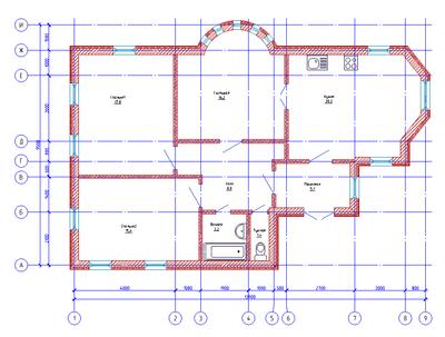 Рис. 3. Пример плана, выполненного в модуле «Архитектура»