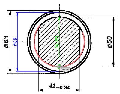 nanoCAD может привязываться к характерным точкам на растровых изображениях (конточка, середина, центр, окружность и т.д.)