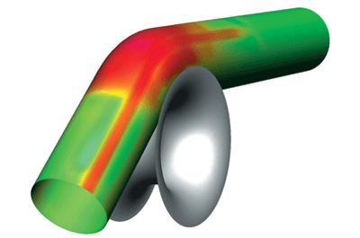 PAM-TUBE 2G. Поведение сварного шва при гибке трубы